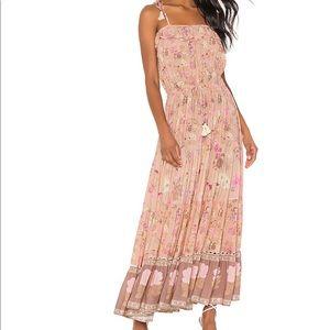 Spell Wild Bloom Strappy Dress in Blush